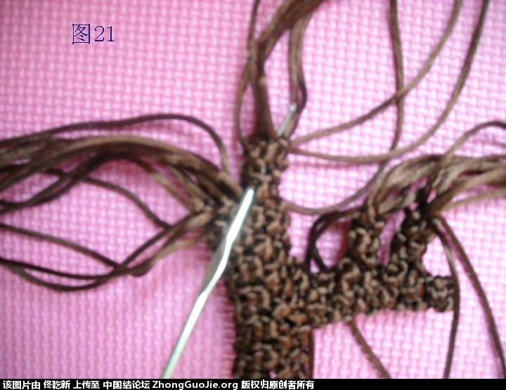 中国结论坛 梅花树干的制作过程  立体绳结教程与交流区 112556bifglnio4ignwfyl