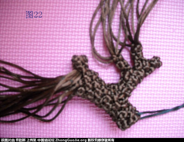 中国结论坛 梅花树干的制作过程  立体绳结教程与交流区 112606x42e1znl1r12d027