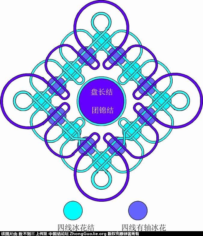 中国结论坛 国庆节画的冰花简图  冰花结(华瑶结)的教程与讨论区 225659cs6ws5warregmwza