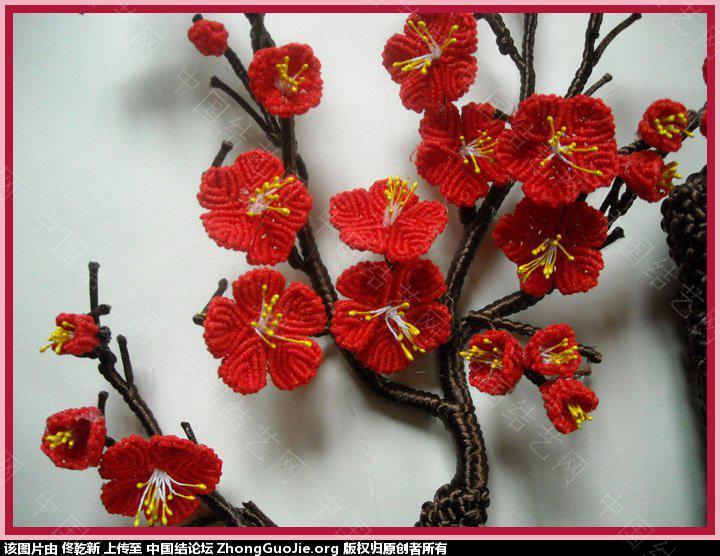 中国结论坛 用结艺编的梅花部分放大图片  作品展示 170646vg9indvdimms7tvq