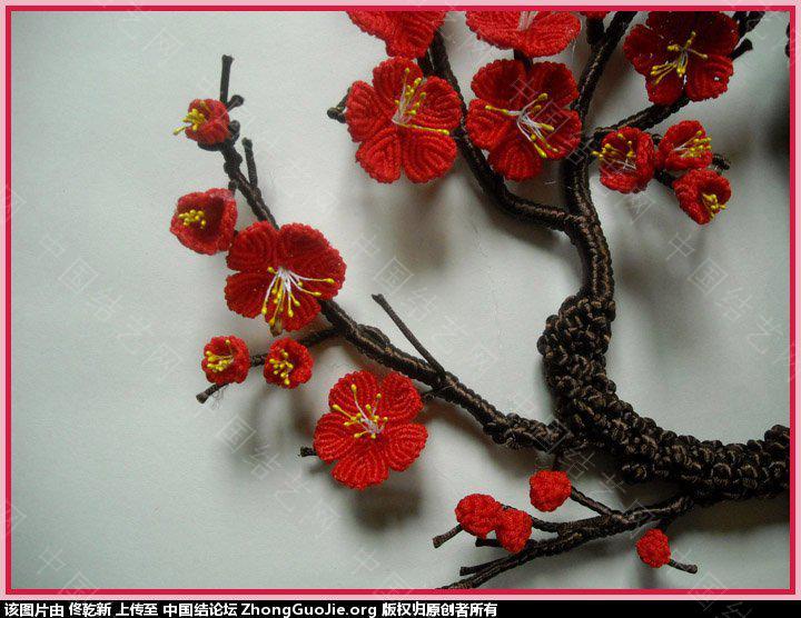 中国结论坛 用结艺编的梅花部分放大图片  作品展示 1706494iiivoys0rfq9fii