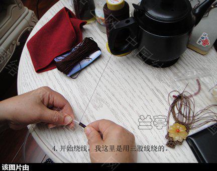 中国结论坛 绕线项圈的做法 项圈 兰亭结艺 153723jlh6xtjwzw5a5w66