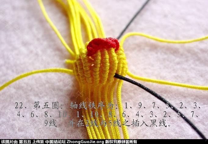 中国结论坛 路丑丑原创结艺教程-----小鸡(教程在一楼和三楼)  立体绳结教程与交流区 112152h4tuxi4xhep3phhj