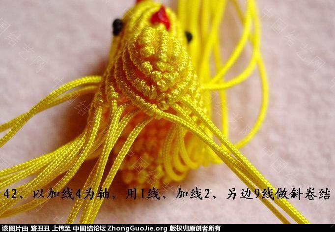 中国结论坛 路丑丑原创结艺教程-----小鸡(下)  立体绳结教程与交流区 1655447yw90p2j302y57pz