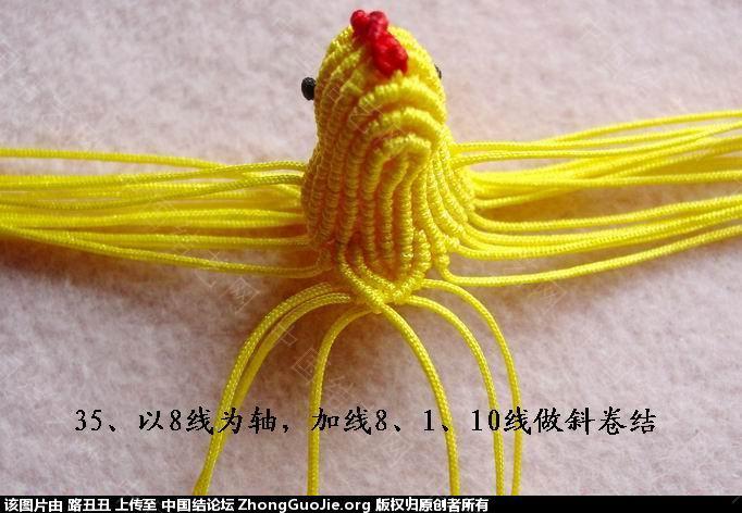 中国结论坛 路丑丑原创结艺教程-----小鸡(下)  立体绳结教程与交流区 165614dclx66869f60sg9l