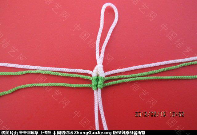 中国结论坛 珍珠蝴蝶的编法  立体绳结教程与交流区 2258317b751zumimo0xhum
