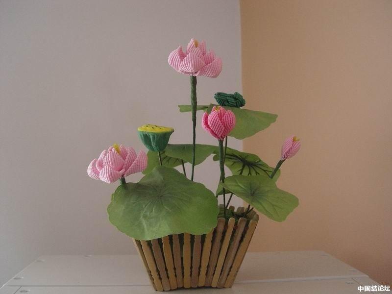 中国结论坛 我编的莲花 莲花 作品展示 164652cf1mxisttsyytec9