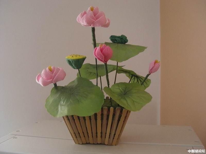 中国结论坛 我编的莲花 莲花 作品展示 1646543b5kz3lws2g7osig