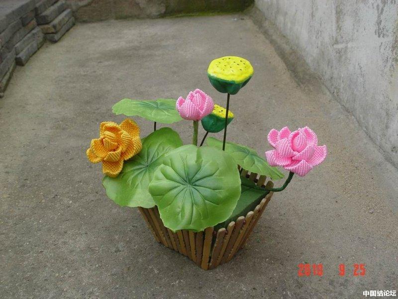 中国结论坛 我编的莲花 莲花 作品展示 165230dik7qh7i4umq9zm4