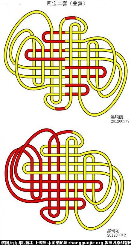 中国结论坛 两个有趣的四宝二套宝结,哪个才是对称一致的呢 幼儿园对称教案公开课,大班美术对称画教案,有趣的对称图形教案 基本结-新手入门必看 231447vpxgtj88jzjx6jgc