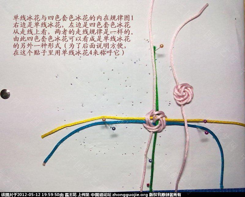 中国结论坛 单线冰花的几种走线形式和应用以及与四线轴冰花的区别  冰花结(华瑶结)的教程与讨论区 19561966zl870lzqxr250y