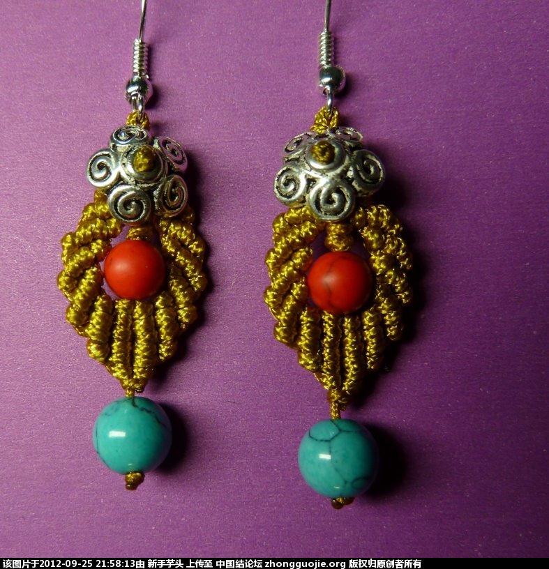 中国结论坛 三款小耳环,顺便捎上串珠耳环 耳环,串珠 作品展示 2149564gawgg3vp2c87u2j