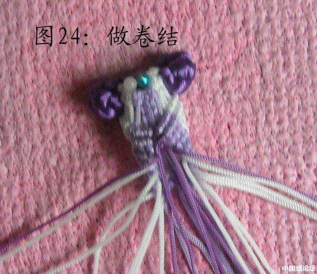 中国结论坛 立体小金鱼的编结过程 金鱼,动物 立体绳结教程与交流区 151107lg4b70zofdkbofkj