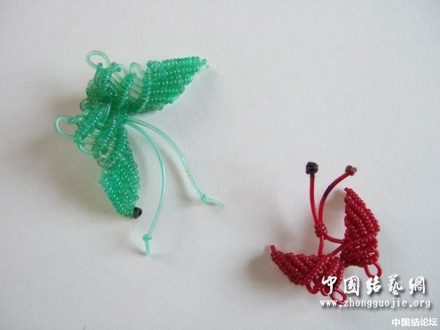 """中国结论坛 我的""""塑料线小蝴蝶""""编法 蝴蝶,塑料 立体绳结教程与交流区 1200193sewemy3z133oey3"""