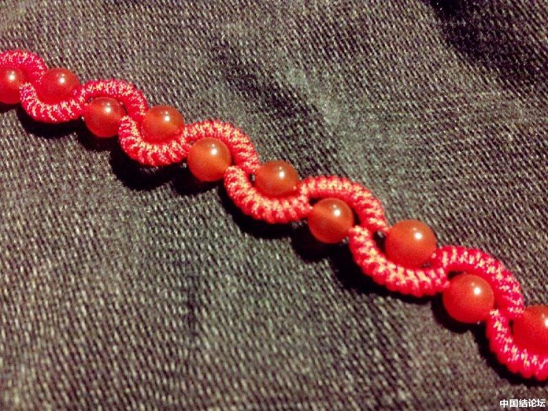 中国结论坛 蛇结波浪形玛瑙手链(新增手绘教程)  作品展示 225235hoe8r4n8ernvy8tz