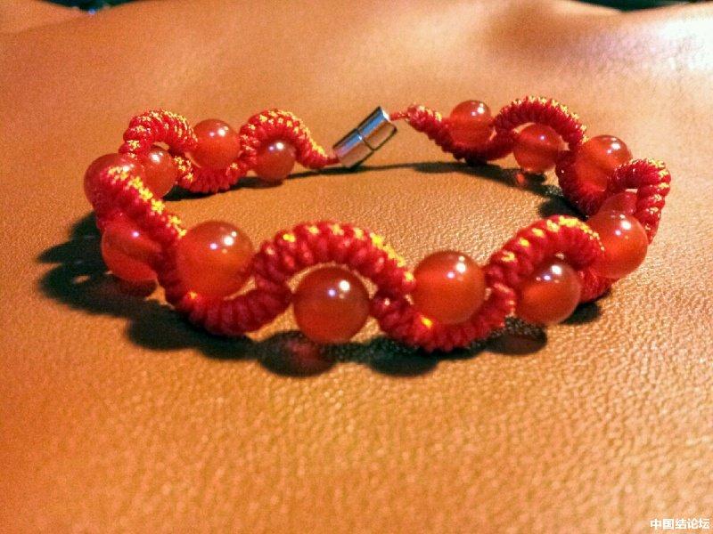 中国结论坛 蛇结波浪形玛瑙手链(新增手绘教程)  作品展示 225246j339th6zuaauz3qs
