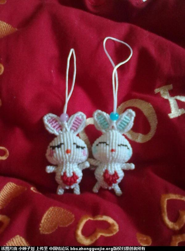 中国结论坛 斜卷结情侣小兔 小兔,情侣,大红色,小兔子 立体绳结教程与交流区 1548296sdcgsz4g6ekm4mg