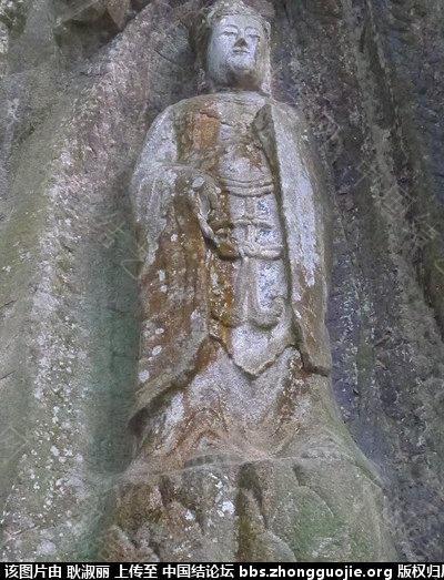 中国结论坛 五代永春魁星岩石雕像身上的结饰。 雕像,五代,大雄宝殿,永春,山阴 中国结文化 213146caj3rlarc61l2ljb