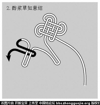 中国结论坛 酢浆草结(人字,入字面编法) 如意结编法走线图!!! 分级达标 基本结-新手入门必看 2143364nizcd4yu5x4hii4