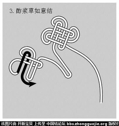中国结论坛 酢浆草结(人字,入字面编法) 如意结编法走线图!!! 分级达标 基本结-新手入门必看 214337e3qh1kpmmmxqm388