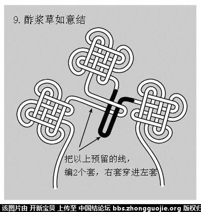 中国结论坛 酢浆草结(人字,入字面编法) 如意结编法走线图!!! 分级达标 基本结-新手入门必看 214342k4dddn1kzqot7qht