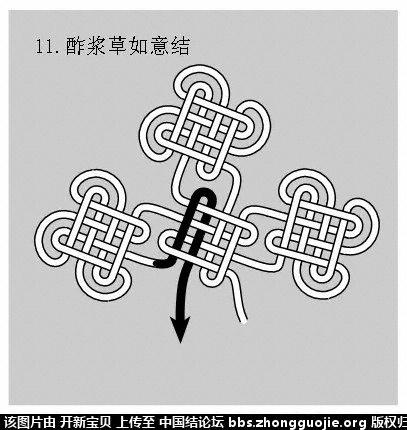 中国结论坛 酢浆草结(人字,入字面编法) 如意结编法走线图!!! 分级达标 基本结-新手入门必看 214343ppznrxrkvhgtingr