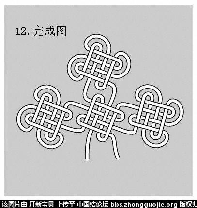 中国结论坛 酢浆草结(人字,入字面编法) 如意结编法走线图!!! 分级达标 基本结-新手入门必看 214344rgm989addaaeaqwq