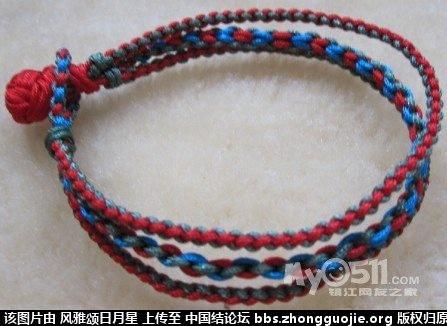 中国结论坛 请教高手这款手链的编法,这个中间这股是什么结  结艺互助区 111838hrhuapqlack9wqah