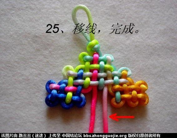 中国结论坛 金钟结主线实物图例 金钟 丑丑徒手编结 121639o0ofhoccicyqodoe