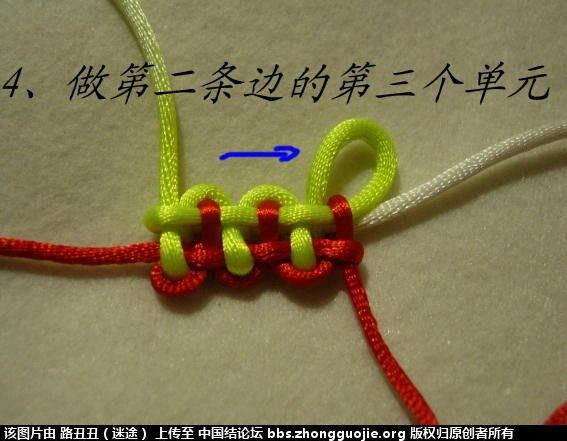 中国结论坛 十九、减少边数:二条边之叶子结 叶子 丑丑徒手编结 205802sghe53hksx5sgsis