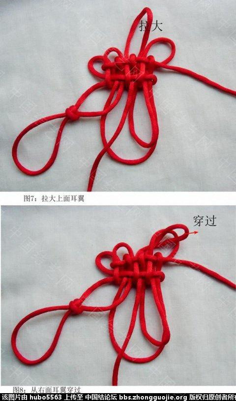 中国结论坛 五回叠翼盘长(二)徒手编结过程  丑丑徒手编结 210353ze44hispdaxai4zi