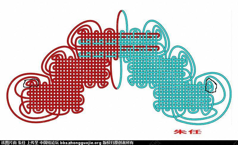 """中国结论坛 回华升老师""""求助一张移位盘长的简图""""  走线图教程【简图专区】 195535njj7agdkjkxk55ft"""