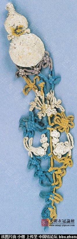 中国结论坛 元·灰白地刺繡人物花卉紋葫蘆形香囊  中国结文化 23135323vfdedgb7d07rsd