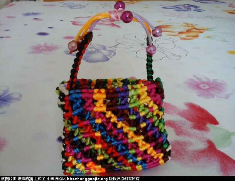 中国结论坛 用线头接出来的花包包  作品展示 12353468d8ig528ivp8f2v