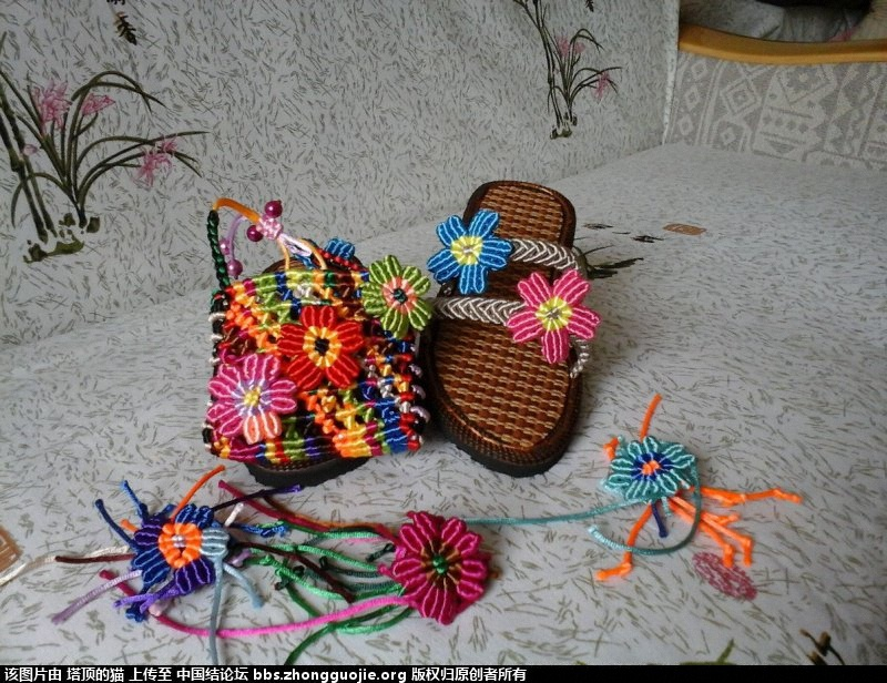 中国结论坛 用线头接出来的花包包  作品展示 123538zsq9ic19yxg1sjcy