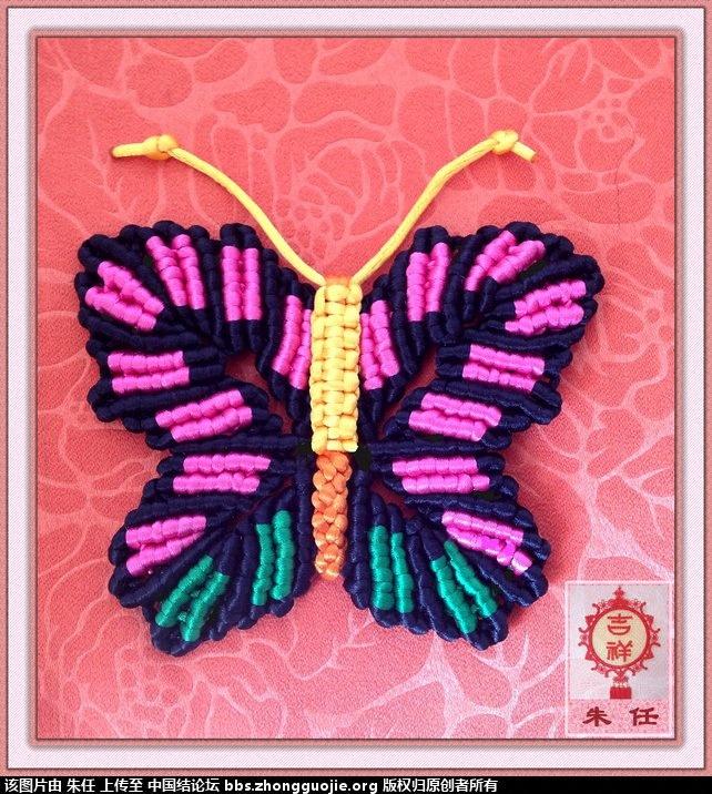 中国结论坛 两只蝴蝶及走线图 两只蝴蝶 立体绳结教程与交流区 214620sfids6ppp66i66pl