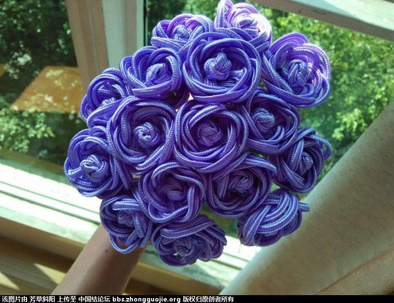 中国结论坛 套箍结玫瑰新娘捧花 玫瑰花束 作品展示 133921m8ksp3hc4yc8l6l1