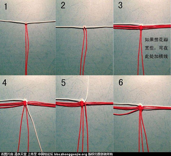 中国结论坛 红色镶边大丽花及教程 大丽花 立体绳结教程与交流区 2245181uptxw7z6k2phpg0