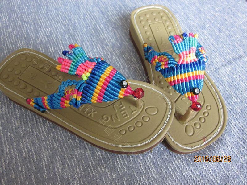 中国结论坛 简单好编的热带天使魚拖鞋 朋友,天使,拖鞋 图文教程区 143657w4elrnal5r146544