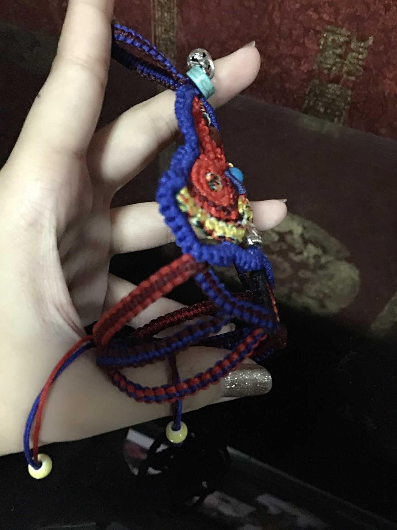 中国结论坛 我编的带在手背上的民族风饰品,第一次自己设计,感觉棒棒哒 民族,饰品 作品展示 120619e6gnnvwyukzvzp3x