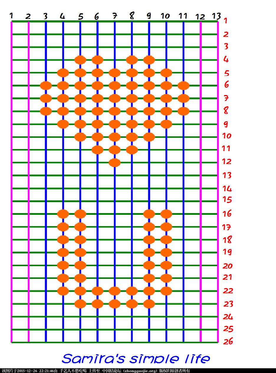 中国结论坛 新手玩转基础结-横纵卷结平面图案 平面 图文教程区 221734suc4altukkl4d4tr