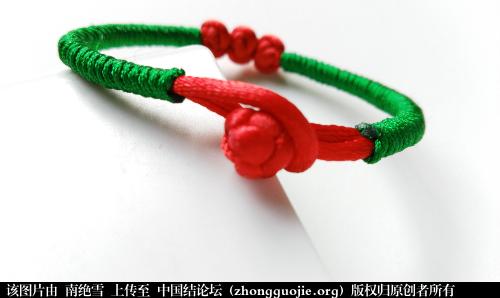 中国结论坛 大红大绿 红豆相思手链  作品展示 204124rbz4jmd11ggjg4uh