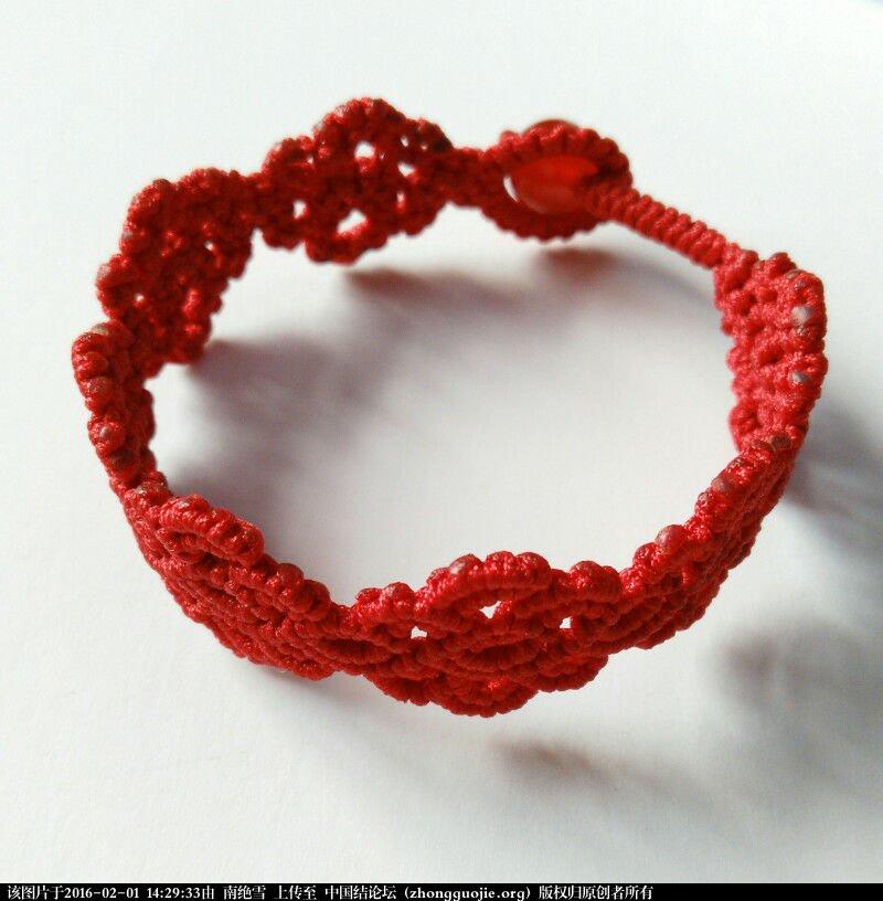 中国结论坛 祥云红绳手链  作品展示 142904lqxvggw8g76gpty8