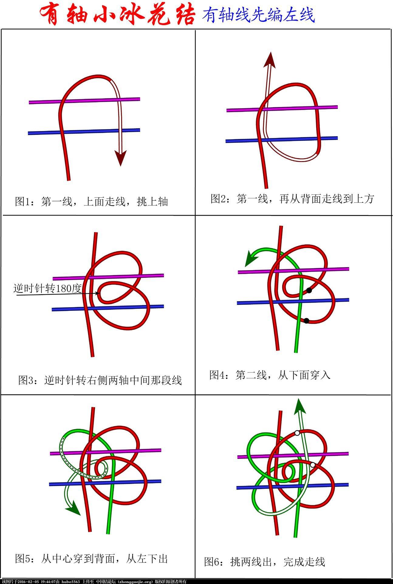 中国结论坛 徒手有轴小冰花结编法 有轴冰花结的编法图解,冰花结的编法图解视频,有轴冰花结组合的编法 冰花结(华瑶结)的教程与讨论区 194320zz911bjo1tcmotmo
