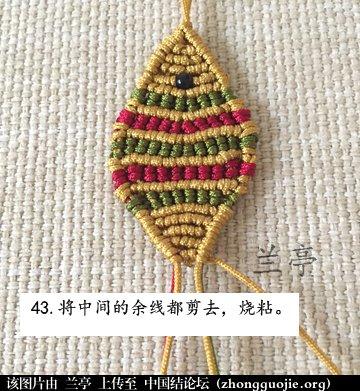 中国结论坛 过年给小孩编条小鱼手链吧(年年有余)  兰亭结艺 082400cfhpbkvzm9z8zd8v