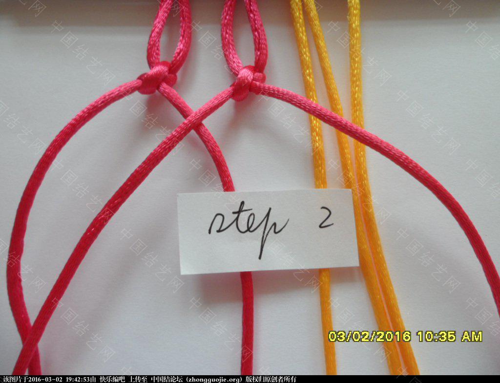 中国结论坛 双色手绳教程——反斜卷结与雀头结组合练习 左右 图文教程区 193745uqrw8lr8eehvxhwq