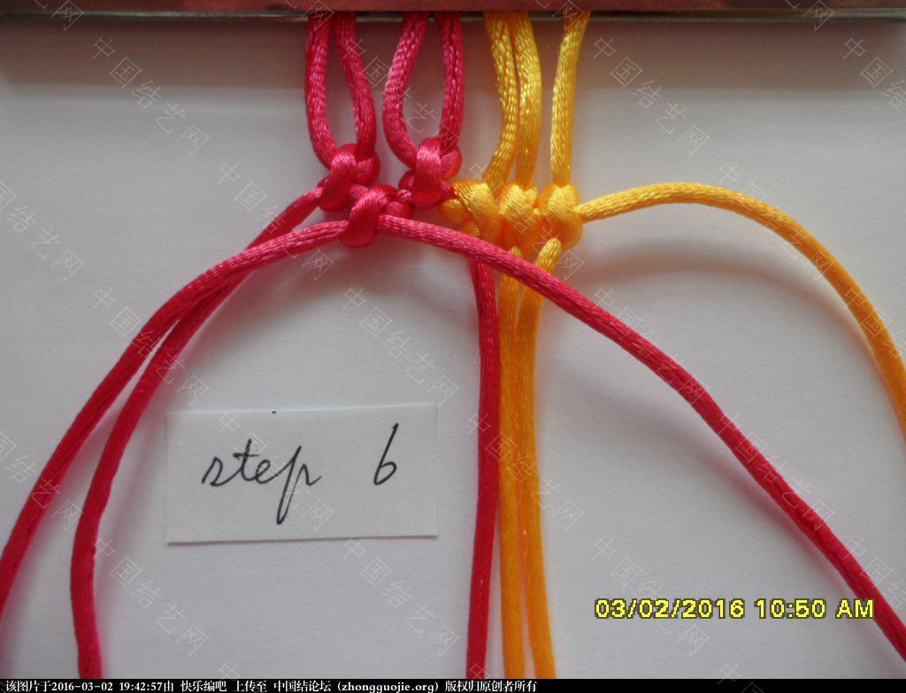 中国结论坛 双色手绳教程——反斜卷结与雀头结组合练习 左右 图文教程区 193842e69tx2jj699ji0vt
