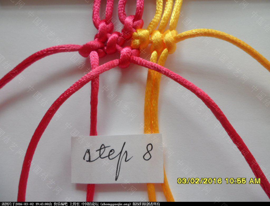 中国结论坛 双色手绳教程——反斜卷结与雀头结组合练习 左右 图文教程区 193907pap4vvaibaw3lka6