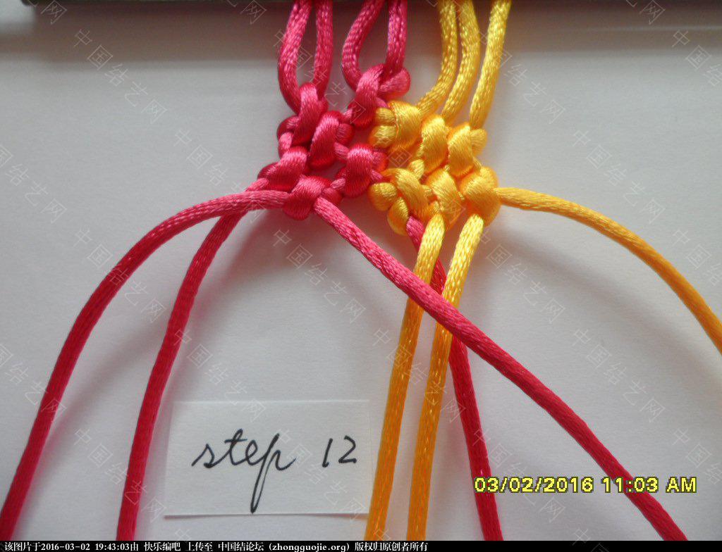 中国结论坛 双色手绳教程——反斜卷结与雀头结组合练习 左右 图文教程区 193948evrrnfvywfyivtw4