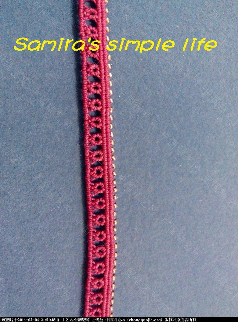 中国结论坛 玫红色串珠发带-新手原创 串珠,工程,项链 图文教程区 215120uuu5sz3sd12mp2ze